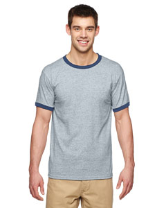 Sport Grey/navy Adult 5.5 oz. Ringer T-Shirt