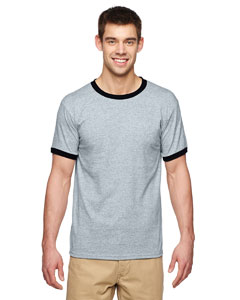 Sport Grey/black Adult 5.5 oz. Ringer T-Shirt