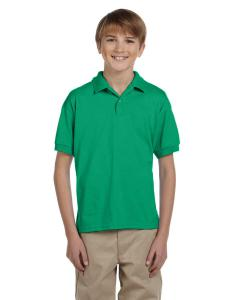 Kelly Green Youth Unisex 6 oz. 50/50 Jersey Polo