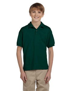 Forest Green Youth Unisex 6 oz. 50/50 Jersey Polo