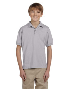 Sport Grey DryBlend® Youth 5.6 oz., 50/50 Jersey Polo