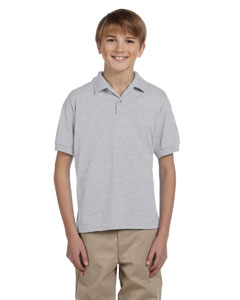 Ash Grey Youth Unisex 6 oz. 50/50 Jersey Polo