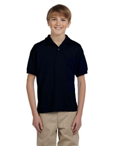 Black Youth Unisex 6 oz. 50/50 Jersey Polo