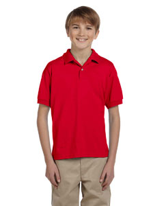 Red Youth Unisex 6 oz. 50/50 Jersey Polo