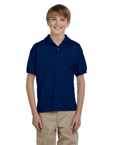 Navy DryBlend® Youth 5.6 oz., 50/50 Jersey Polo