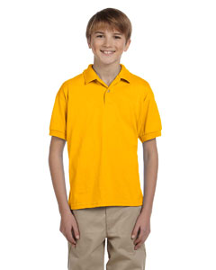 Gold Youth Unisex 6 oz. 50/50 Jersey Polo