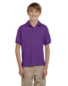 Purple DryBlend® Youth 5.6 oz., 50/50 Jersey Polo