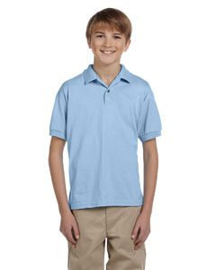 Light Blue Youth Unisex 6 oz. 50/50 Jersey Polo