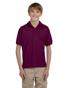Maroon DryBlend® Youth 5.6 oz., 50/50 Jersey Polo