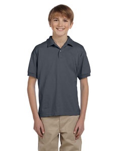 Dark Heather Youth Unisex 6 oz. 50/50 Jersey Polo
