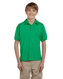 Irish Green DryBlend® Youth 5.6 oz., 50/50 Jersey Polo
