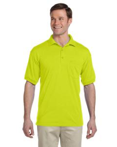 Safety Green DryBlend™ 6 oz., 50/50 Jersey Polo with Pocket