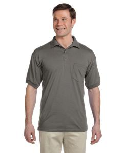 Graphite Heather DryBlend™ 6 oz., 50/50 Jersey Polo with Pocket