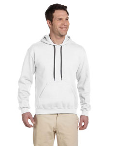 White Premium Cotton™ 9 oz. Ringspun Hooded Sweatshirt