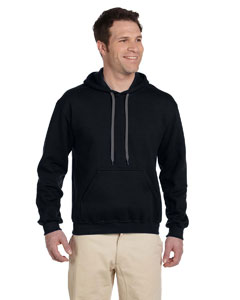 Black Premium Cotton™ 9 oz. Ringspun Hooded Sweatshirt