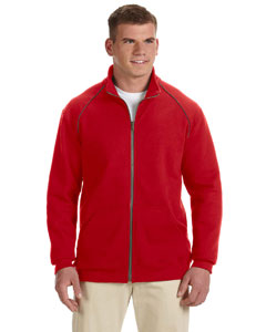 Red Premium Cotton™ 9 oz. Ringspun Fleece Full-Zip Jacket