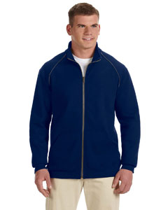 Navy Premium Cotton™ 9 oz. Ringspun Fleece Full-Zip Jacket