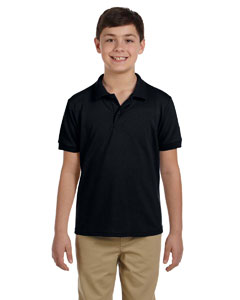 Black DryBlend™ Youth 6.5 oz. Piqué Sport Shirt