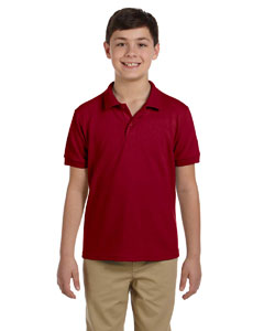 Cardinal Red DryBlend™ Youth 6.5 oz. Piqué Sport Shirt