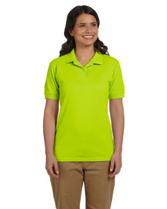 Safety Green Women's 6.5 oz. DryBlend™ Piqué Sport Shirt