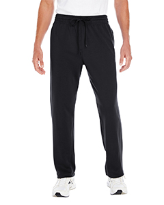 Black Adult Performance® 7.2 oz Tech Open Bottom Sweatpants with Pockets