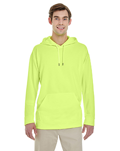 Safety Green Adult Performance® 7.2 oz Tech Hooded Sweatshirt