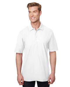 White Adult DryBlend® CVC Polo