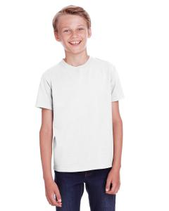 White Pfd Youth 5.5 oz., 100 Ringspun Cotton Garment-Dyed T-Shirt