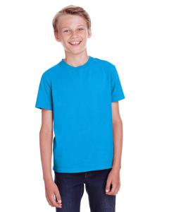 Summer Sky Blue Youth 5.5 oz., 100 Ringspun Cotton Garment-Dyed T-Shirt