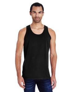 Black Unisex 5.5 oz., 100 Ringspun Cotton Garment-Dyed Tank