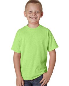 Neon Lime Hthr Youth 4.5 oz. X-Temp® Performance T-Shirt
