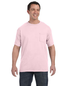 Pale Pink 6.1 oz. Tagless® ComfortSoft® Pocket T-Shirt