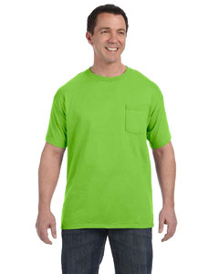 Lime Men's 6.1 oz. Tagless® ComfortSoft® Pocket T-Shirt