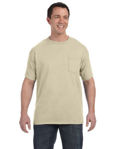 Sand Men's 6.1 oz. Tagless® ComfortSoft® Pocket T-Shirt