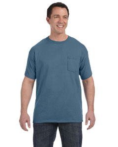 Denim Blue Men's 6.1 oz. Tagless® ComfortSoft® Pocket T-Shirt