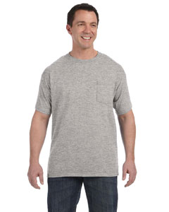Light Steel Men's 6.1 oz. Tagless® ComfortSoft® Pocket T-Shirt