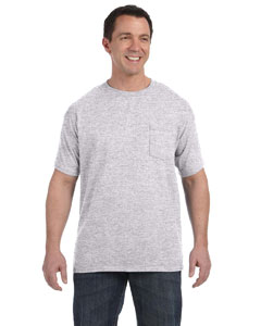 Ash Men's 6.1 oz. Tagless® ComfortSoft® Pocket T-Shirt