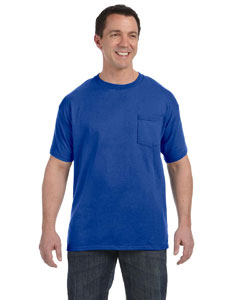 Deep Royal Men's 6.1 oz. Tagless® ComfortSoft® Pocket T-Shirt