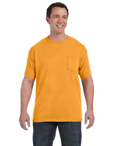 Gold Men's 6.1 oz. Tagless® ComfortSoft® Pocket T-Shirt