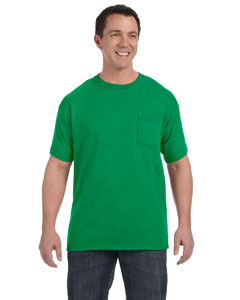 Kelly Green 6.1 oz. Tagless® ComfortSoft® Pocket T-Shirt
