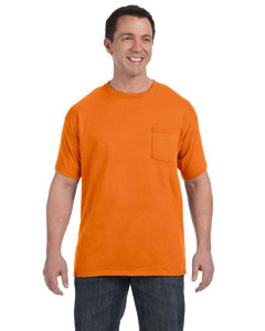 Orange Men's 6.1 oz. Tagless® ComfortSoft® Pocket T-Shirt