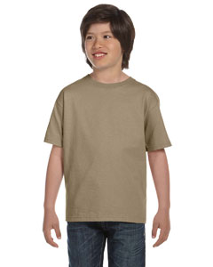 Khaki Youth 6 oz., 100% Cotton Lofteez HD® T-Shirt