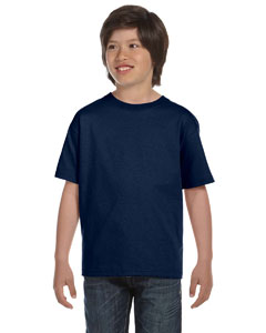 J Navy Youth 6 oz., 100% Cotton Lofteez HD® T-Shirt