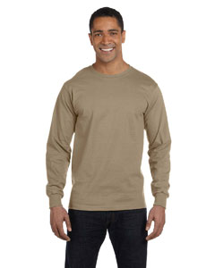 Khaki 6 oz., 100% Cotton Lofteez HD® Long-Sleeve T-Shirt