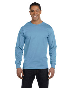 Light Blue 6 oz., 100% Cotton Lofteez HD® Long-Sleeve T-Shirt