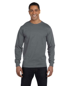 Charcoal 6 oz., 100% Cotton Lofteez HD® Long-Sleeve T-Shirt