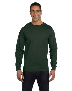 Forest Green 6 oz., 100% Cotton Lofteez HD® Long-Sleeve T-Shirt