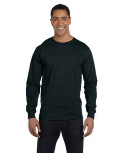 Black 6 oz., 100% Cotton Lofteez HD® Long-Sleeve T-Shirt