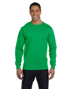 Kelly Green 6 oz., 100% Cotton Lofteez HD® Long-Sleeve T-Shirt