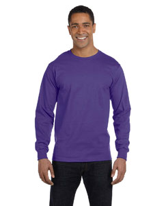 Purple 6 oz., 100% Cotton Lofteez HD® Long-Sleeve T-Shirt
